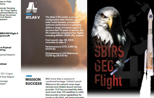 PDF. Atlas V - SBIRS GEO-4 Mission Overview
